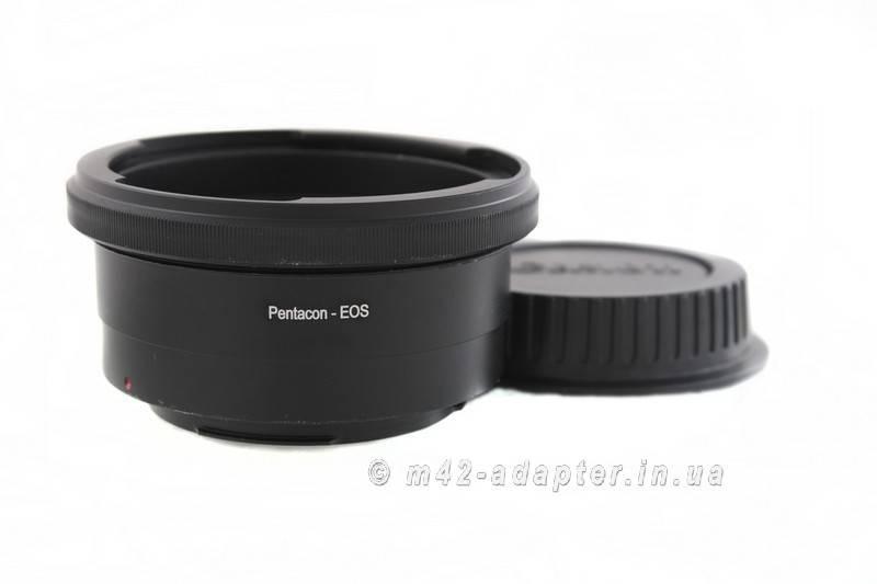 Адаптер, переходник Pentacon 6 - Canon EF EOS с чипом