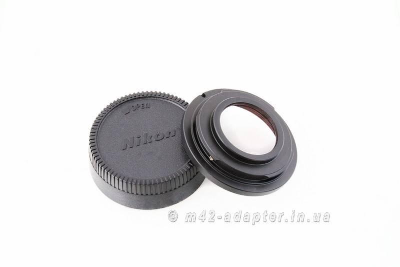 Адаптер M42 - Nikon с линзой PIXCO