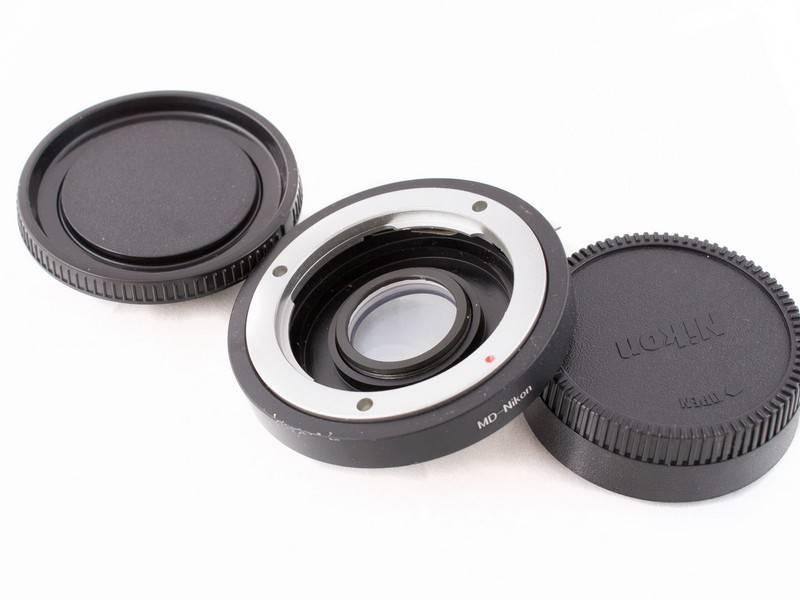Адаптер Minolta MD - Nikon с корректирующей линзой на бесконечность